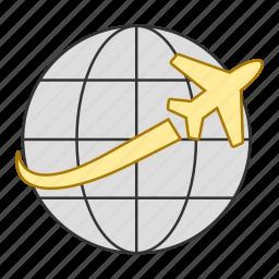 business, flight, tour, transportation, travel, trip icon