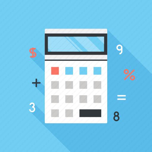 accounting, budget, calculator, finance, math, mathematics, school icon