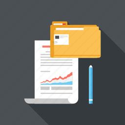 analytics, chart, data, document, file, management, statistics icon