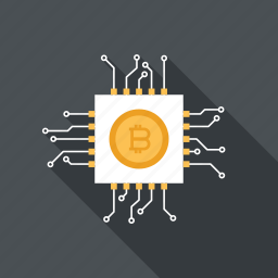 bitcoin, currency, digital, ecommerce, electronic, money, processor icon