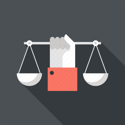 balance, business, hand, law, management, measure, scales icon