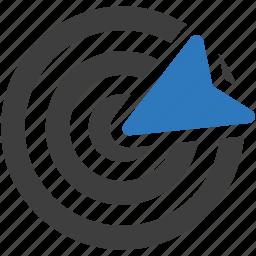 arrow, bullseye, business, dart, target icon