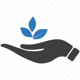 business startup, growth, hand, investment, leaves, plant, startup icon