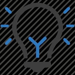 brainstorming, business idea, creativity, light bulb icon