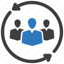 audience, business, businessman, crowd, market, people targeting, target icon