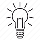business, electric lamp, idea icon