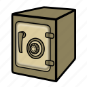 bank, safe, vault icon