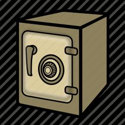 bank, safe, vault icon