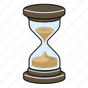 clock, glass, hour, sand icon
