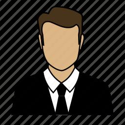 accountant, admin, avatar, man icon