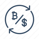 bitcoin, business, conversion, digital currency, exchange, money, transfer icon