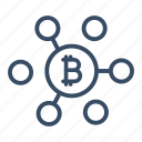 bitcoin, bitcoin network, cyber, global, internet, network, security payment icon