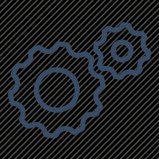 business, change, gear, improvement, proces, productivity, progress icon