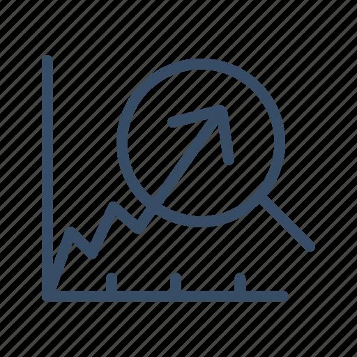 analyze, data, economy, growth, increase, rewenue growth, statistics icon