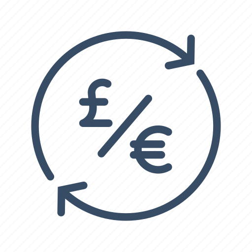 conversion, euro, exchange, finance, money, pound, transfer icon