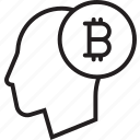 bitcoin, business, coin, crypto, currency icon