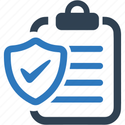 business, document, insurance, policy, protection, shield icon