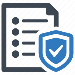 document, insurance, protection icon