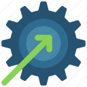business, improved, intelligence, process, solutions icon