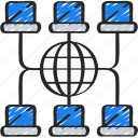 business, computer, intelligence, network, solutions icon