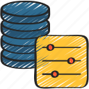 business, data, filtering, intelligence, solutions icon