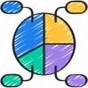 breakdown, business, chart, intelligence, pie, solutions icon