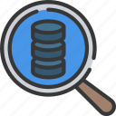 audit, business, data, intelligence, search, solutions icon