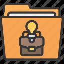 bi, business, folder, intelligence, solutions icon