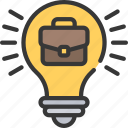 business, ideas, intelligence, solutions icon