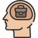 business, intelligence, mind, solutions icon