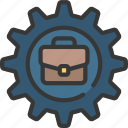 business, cog, intelligence, settings icon