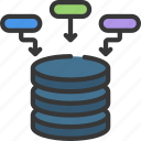 business, contributions, data, intelligence, solutions icon