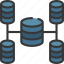 business, data, intelligence, network, solutions icon
