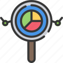 analytics, business, intelligence, search, solutions icon