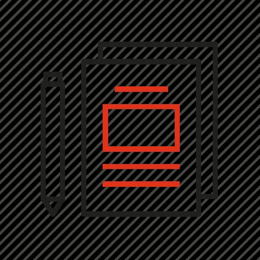 conclusion, data, information, outcome, paper, pen, result icon