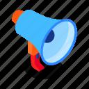 megaphone, marketing, announcement, business