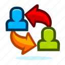 allocation, business, departments, man, management, office, people, person, user icon
