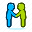 agreement, business, ecommerce, hands, handshake, office, partnership icon