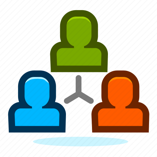 client, customer, hierarchy, manager, organization, person, structure, team icon