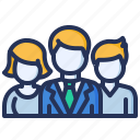 businesspeople, employees, managers, team icon