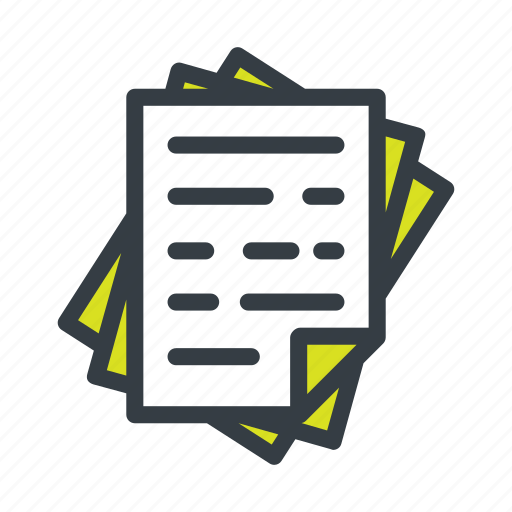 document, documents, file, page, paper, papers, stack icon
