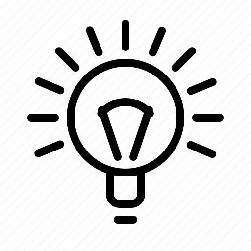 agency, business, idea, lamp, seo, work icon