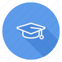 business, communication, lifestyle, marketing, mortarboard, networking, office icon