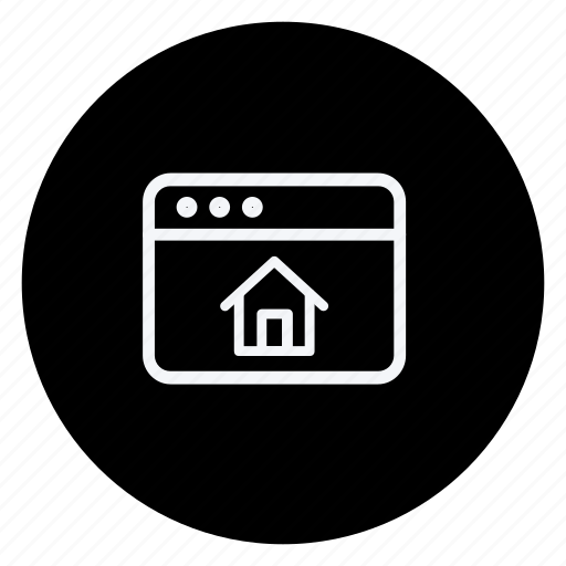 browser, business, communication, home, house, marketing, networking icon