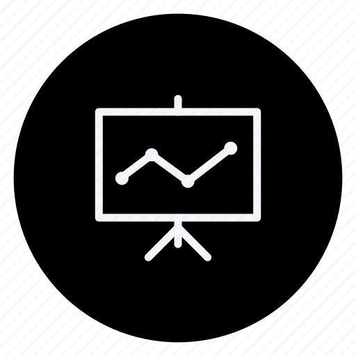 business, chart, communication, graph, networking, office, presentation icon