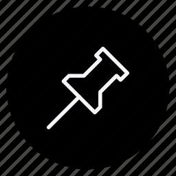business, communication, marketing, networking, office, pin, push pin icon