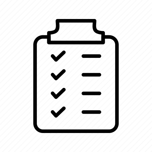 clipboard, notepad, notes, planning icon