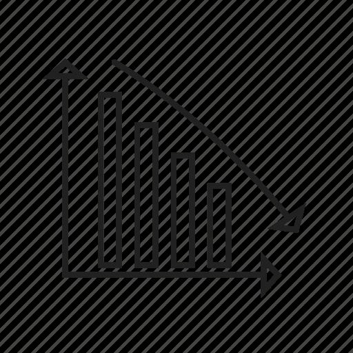 bar, descending, diagram, report, statistics icon