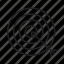 aim, darts, focus, goals, target icon