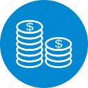 cash, coins, currency icon